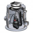 ACO Sinkamat-K 50 mm til installation i gulv, gråt spildevand