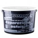 Instamak reparationsasfalt 25 kg, 0-3 mm, hvid