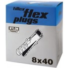 PLUGS FLEX FP8 8X40MM-100 GRÅ